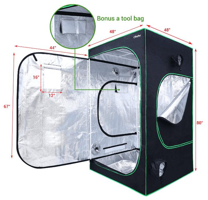 Ohuhu brand high quality grow tent