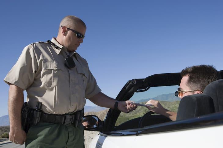 traffic officer marijuana check