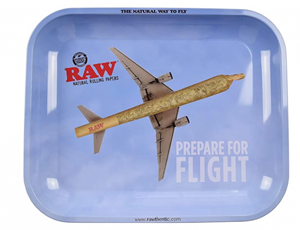 Flying metal large rolling tray.
