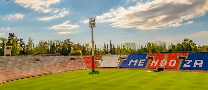 Field view of malvinas argentinas world cup stadium