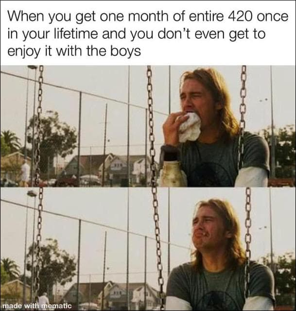 weed meme about 420 celebration during coronavirus lockdown