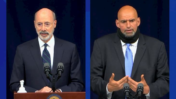 GovernorTom Wolf and Lt. Gov.ernor John Fetterman