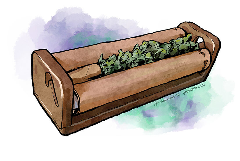 How to roll a joint using roller machine