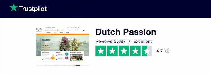 Dutch Passion seeds review on Trustpilot