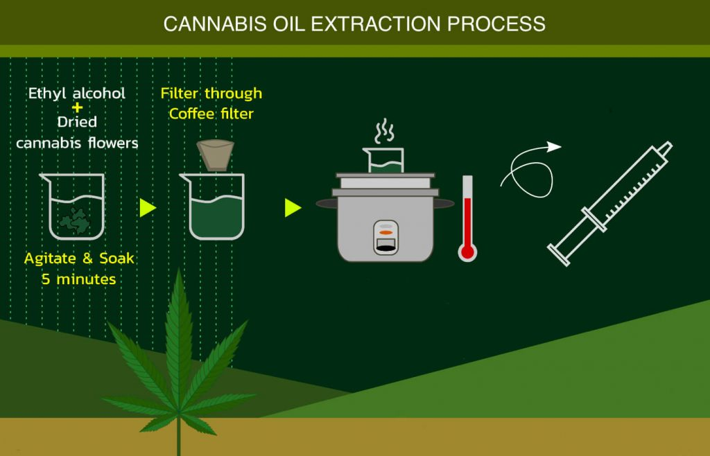 Cannabis oil extraction process